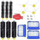 DingGreat Kit Repuestos y Accesorios Filtro y Cepillo Lateral para Aspiradora iRobot Roomba Serie 600 605 610 615 616 620 625