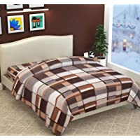 SB Traders Presenting a Woolen Blend 200 TC Quilt Cover (Brown)