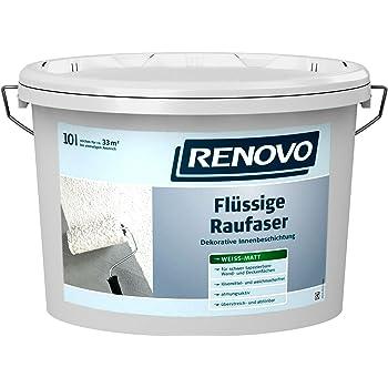 renovo fl ssige rauhfaser 10 liter raufaser strukturfarbe rollrauhfaser baumarkt. Black Bedroom Furniture Sets. Home Design Ideas
