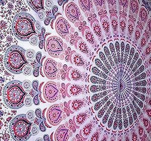 rawyal indian pfau mandala wandteppich indisches wand aufh ngen hippie indische wandteppich. Black Bedroom Furniture Sets. Home Design Ideas