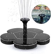 Migimi Solar Springbrunnen, Solar Teichpumpe Outdoor Wasserpumpe Solarpumpe  Mit 1.4W Monokristalline Solar Panel Brunnen