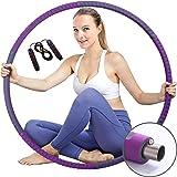 FLKENNEL Rockring däck fitness för vuxna, stabil kärna av rostfritt stål, 6 segment avtagbart hoop-däck från 1,2 kg till 3,2