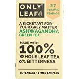 ONLYLEAF Ashwagandha Green Tea for Immunity Boosting & Improved Memory, Made with 100% Whole Leaf, Natural Ashwagandha…