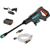 GARDENA Akku-Mitteldruckreiniger AquaClean 24/18V P4A Ready-To-Use Set: Akku-Reiniger für den Außenbereich, 3…