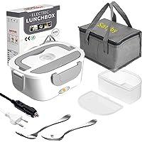 Boîte Chauffante Repas [Renouveler] Lunch Box Électrique 3 en 1 Lunch Box 1.5L Chauffante Gamelle 12V 24V 220V avec Sac…