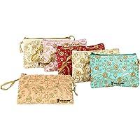 GoldGiftIdeas Ethnic Embellished Pouches Return Gifts, Potli Bags Women, Purse (Set of 6) multi