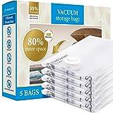 Sac Sous Vide Vêtement XXL & XL (Pack de 5) - Sac de Rangement Sous Vide Couette - Espace de Stockage Multiplié par +85% - Pl