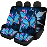 Pizding Universal Seat Covers for Car Seats,Full Sets Include Front Bucket Seat Cover and Rear Split Bench Protection Vintage