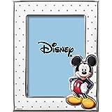Disney Baby - Topolino Mickey Mouse - Cornice Porta Foto in Argento con dettagli dipinti a Colori da Tavolo o Comodino per la