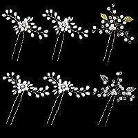 ZOCONE Sposa Forcine Capelli, 6 Pezzi Forcine Capelli Strass Cristallo Perla Nuziale Fermagli Capelli Sposa Accessori…