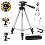 Marklif Adjustable Aluminium Alloy Tripod Stand Holder for Mobile Phones, 360 mm -1050 mm, 1/4 inch Screw Metal Body