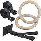 ALPIDEX trägymnastikringar gymnastikringar gym ringar inklusive dörrankare och fästremmar med längdmarkering