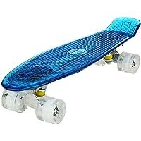 "WeSkate Cruiser Skateboard Tavola Completa Mini Skateboard 22""55CM Penny Board con PU LED Ruote, Cuscinetto ABEC-7…"