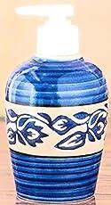 liquid soap dispenser mughal art 150 ml Liquid soap dispenser shampoo dispenser gel dispenser lotion dispenser ceramic for bathroom ceramic handwash liquid soap dispenser for kitchen washroom and bathroom doctors clinic 150