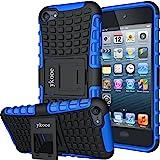 ykooe Funda para iPod Touch 5/6/7 Silicona Carcasa iPod Touch Híbrida de Doble Capa Funda con Soporte para iPod Touch 5 6 7