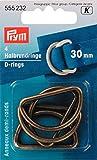 Prym Halbrundringe 30 mm altmessing 4 Stück 555232