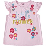 Pink & Blue by FBB Girl's Floral Regular fit T-Shirt