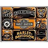 Nostalgic-Art 83096 Harley-Davidson - Wild At Heart, Magnet Set (9pcs)