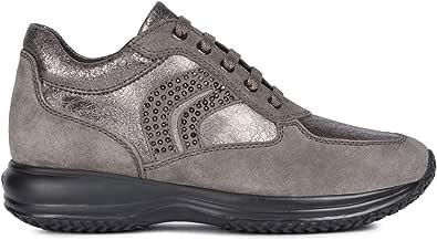 Geox Happy C D5462C 022VI Scarpa Donna Sneaker Casual Sport Scamosciato