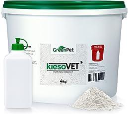 GreenPet KiesoVet® 4 kg Eimer reine Kieselgur inkl. Stäubeflasche im Eimer - (Qualitäts-ID: OLP C 10)