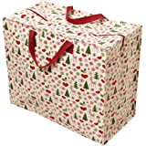 Jumbo-Beutel in Weihnachtsoptik , plastik, 50's Christmas, Jumbo