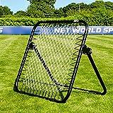 RapidFire Fußball Rebounder - 1,05 x 1,05m - Trainiere Fußballfähigkeiten - Verbessere die erste Berührung - Torwarttraining [Net World Sports]