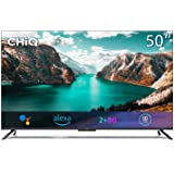 CHiQ U50G7PF Hands Free Voice Control Frameless Smart Android TV,4K UHD, HDR 10, Dolby Vision, Dolby Audio, Works with Alexa,