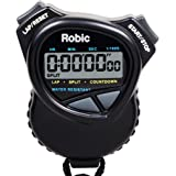 Robic Stopwatch with Countdown Timer, Black