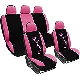 WOLTU AS7252 Auto Sitzbezüge für PKW ohne Seitenairbag, mit Butterfly, rosa