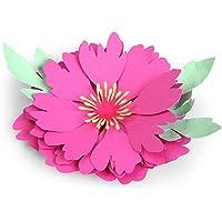 Sizzix 3-D Flower Sculting Bundle Glitter Biodegradabile e Strumento Termico Fustelle Glicine Bigz Schiuma per Scolpire