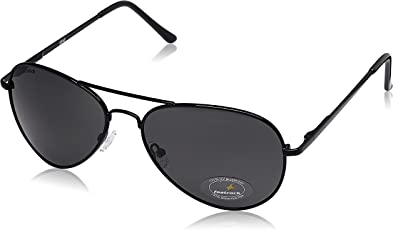 Fastrack Aviator unisex Sunglasses (M069BK3|58|Grey)