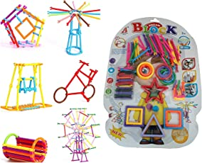 Pacificdeals Colorful Sticks Creative Building Blocks Learning Toy Set Perfect Gift for Kids (Age 3+) - Multi Colors