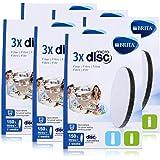 BRITA Lot de 3 filtres à eau MicroDisc - Compatible avec les bouteilles filtrantes BRITA fill&go et les carafes filtrantes BR