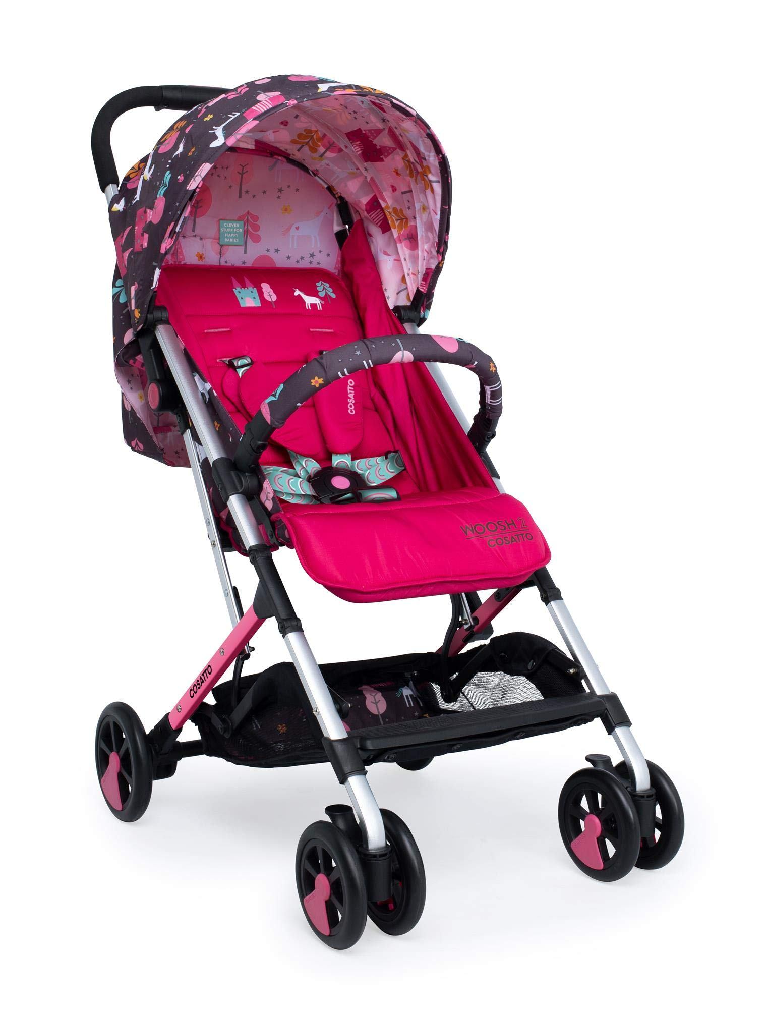 Cosatto CT4224 Woosh 2 Unicorn Land 7.2 kg Cosatto Suitable from birth to max weight of 25kg, lets your toddler use it for even longer Lightweight, sturdy aluminium frame New-born recline 3