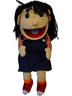 """Puppet girl Daisy 15/"""" Ventriloquist.Play,Educational.Movingmouth /& hands"""