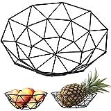 metalen fruitschaal vintage geometrische decoratieve kleine fruitmand voor opslag tafelblad fruit en plantaardig brood - 5,5