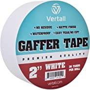 Vertall Premium Grade Gaffer Tape, Non-Reflective Residue-Free Matte Cloth Fabric, 2 Inch X 30 Yards for Professionals 2