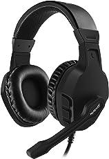 Nubwo Gaming Headset PS4, U3 Stereo Wired Xbox One Headset mit Rauschunterdrückungsmikrofon, Over-Ear Kopfhörer mit Mute Kontrol für PC, Mac, Playstation 4, Xbox One, Android und iPhone- Black