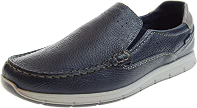 ENVAL SOFT 3238000 Scarpe Mocassini Slip on Boat Pelle Blu