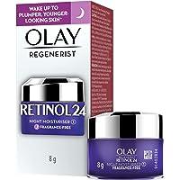 Olay Night Cream mini: Regenerist Retinol 24 Moisturiser for hydrated plump smooth skin, 8 g