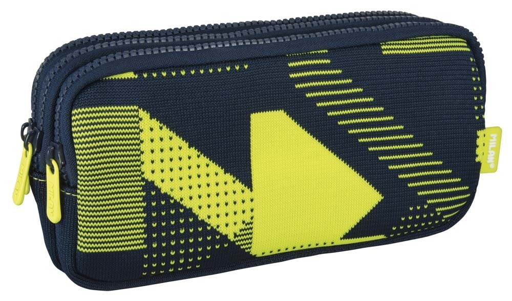 Milan – Portatodo 3 cremalleras knit amarillo – sinopsis y precio