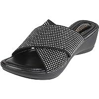 Catwalk Women's Diamond Encrusted Slip Ons Clogs