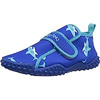 Playshoes Calzature da Mare con Protezione UV Squalo, Scarpe da Acqua Unisex-Bambini