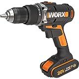 WORX WX372 Accu-klopboorschroevendraaierset met 20 V slagboorschroevendraaier, 2 Li-ion-accu's, snellader, dubbele bit & koff