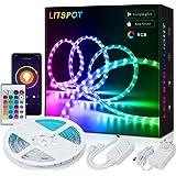 LITSPOT Smart WiFi LED-strip, 5m RGB LED strip verlichting app-besturing muziek LED-band lichtsnoer voor huis keuken TV compa