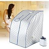 Steam Portable Heater Sauna Box, 2L Spa Steamer Sauna Tent for Living Room Remote Control Temperature, Home Sauna Steam…