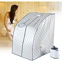 Steam Sauna Portable Pot, Sauna Cabin Sauna Bath Box Slimming Body Face, 2L Spa Steamer Sauna Tent for Living Room, Remote Control Temperature, Loss Weight Slimming Skin Spa Machine(UK)