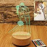 16 colori Personalizzato Foto personalizzata 3D lampada Bluetooth foto incisione Testo personalizzato Migliori regali Anniver
