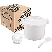 Cuiseur à riz micro-ondes Reishunger, 1,2l pour 4 personnes max, aussi pour le quinoa, le couscous et les pommes de…