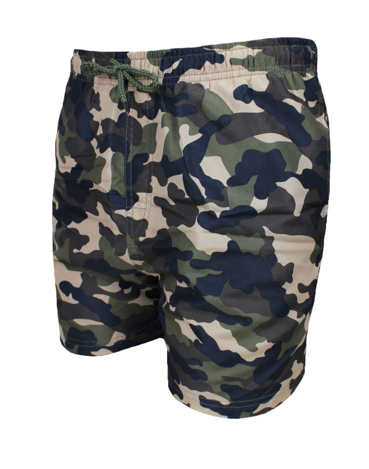 19dadde52a AK collezioni Costume Mare Uomo Mimetico Verde Militare Pantaloncino Boxer  Slim Fit Shorts Pantalone Bermuda